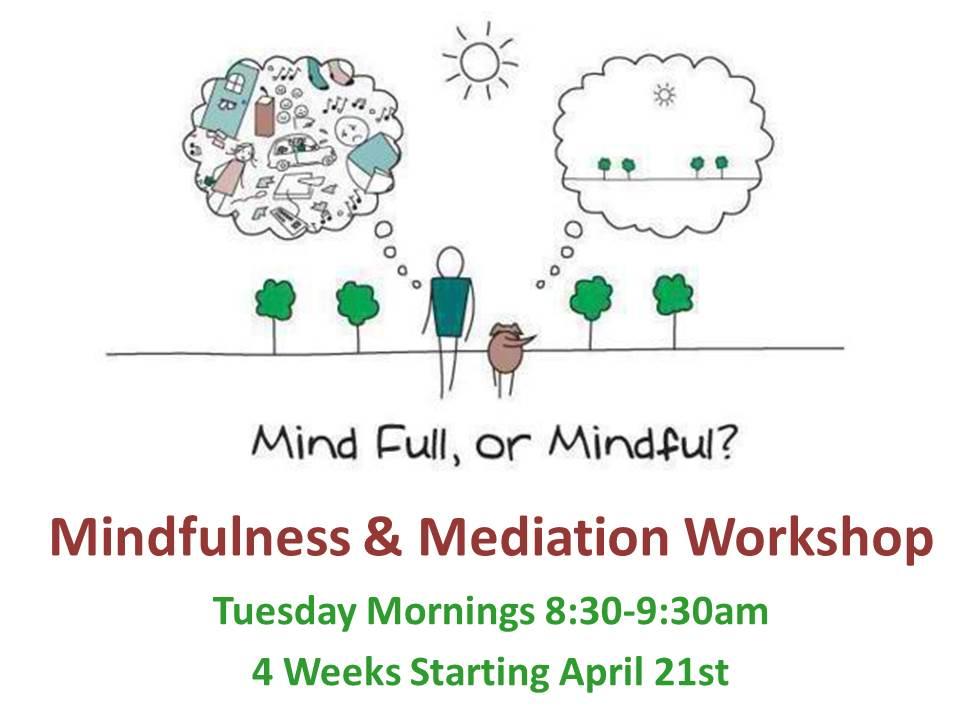 Mindfulness Meditation workshop flyer
