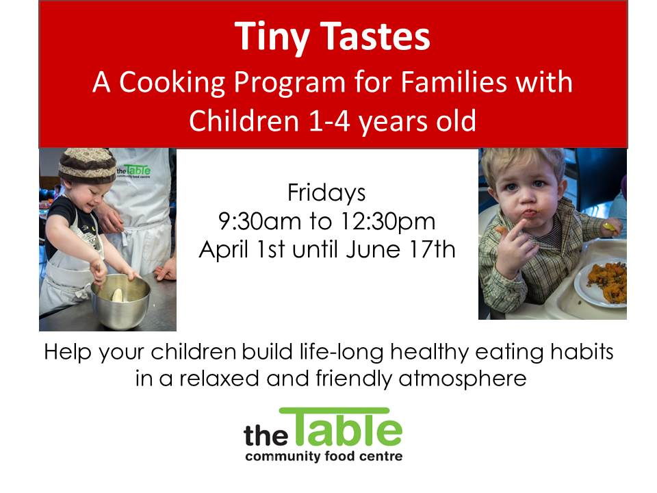 Tiny Tastes, A Cooking Program for Families with Children Aged 1 to 4