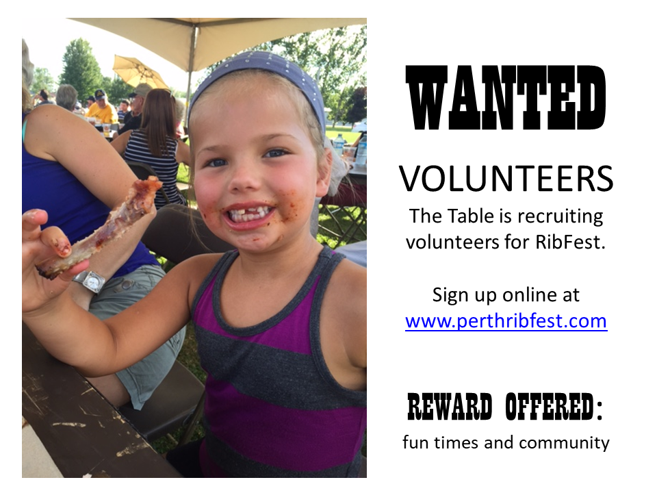 Volunteers Wanted for Perth Ribfest